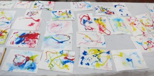 Children's work using Zophobas